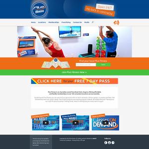 Plus Fitness Homepage